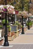 Улица пешехода меню кафа Стоковое Изображение RF