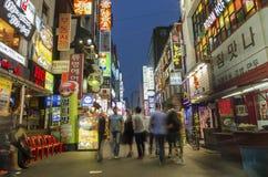 Улица покупкы в центральной Южной Корее Сеула Стоковая Фотография