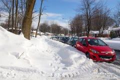 Улица после снежности Стоковая Фотография