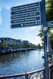 Улица подписывает внутри Харлем Нидерланды Стоковые Изображения RF