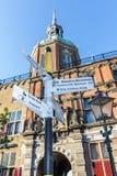 Улица подписывает внутри Dordrecht Стоковая Фотография