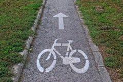 улица путя palanga велосипеда basanaviciaus Стоковая Фотография RF