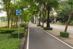 улица путя palanga велосипеда basanaviciaus Стоковые Фотографии RF