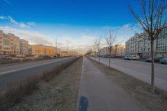 Улица Ростов ` Slavyanka ` района Стоковые Фото