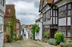 Улица русалки в Rye стоковые фотографии rf