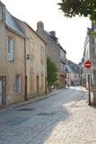 Улица Рута du Pilori в городке Le Croisic, Франции Стоковое Фото