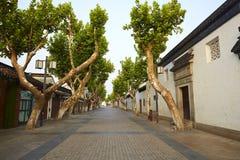 Улица сада Сучжоу, Китай Стоковое Изображение RF