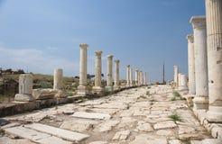 Улица Сирии на Laodikeia Стоковое Изображение RF