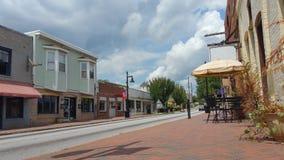 Улица США маленького города стоковое изображение rf