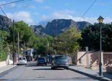 Улица с автомобилями Стоковые Изображения RF