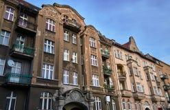 Улица с зданиями Nouveau искусства Стоковая Фотография