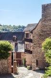 Улица с средневековыми домами Стоковое фото RF