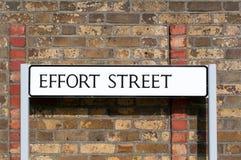 Улица усилия изображения дорожного знака схематическая: Максимальное усилие для максимального Стоковые Изображения