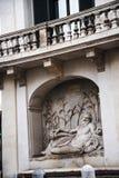 Улица 4 фонтанов в Риме Италии Стоковая Фотография