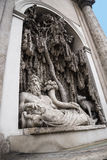 Улица 4 фонтанов в Риме Италии Стоковое Изображение RF