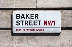 Улица хлебопека подписывает внутри Лондон Стоковые Фото