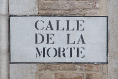 Улица для смерти в Венеции, Италии Стоковое Фото