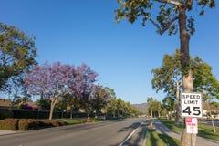 Улица Adolfo, Camarillo, CA Стоковые Изображения RF