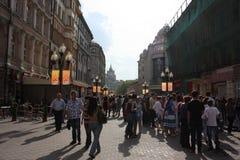 Улица Arbat, Москва, Россия 2012 Стоковая Фотография RF