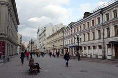 Улица Arbat пешехода в Москве Стоковая Фотография