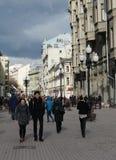 Улица Arbat пешехода в Москве Стоковое фото RF