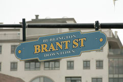 Улица Brant - Burlington - Канада Стоковая Фотография