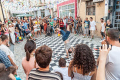 Улица breakdancing Стоковое Фото