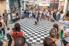 Улица breakdancing Стоковая Фотография RF