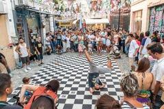Улица breakdancing Стоковые Фотографии RF