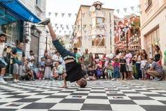 Улица breakdancing Стоковые Изображения RF