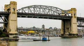 Улица Burrard, мост, Ванкувер, ДО РОЖДЕСТВА ХРИСТОВА Стоковое Изображение
