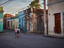 Улица Camaguey Кубы Стоковые Изображения RF
