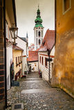 Улица Cesky Krumlov Стоковое фото RF