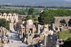 Улица Curetes, Ephesus, Турция Стоковые Фото