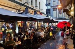 Улица Degraves - Мельбурн Стоковые Фотографии RF