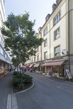 Улица Denkmalstrasse, Lucern, Швейцария Стоковые Фото