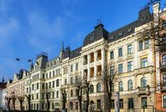 Улица Eelizabetes в Риге, Латвии стоковое изображение