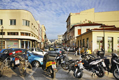 Улица Ermou в Афинах Греция стоковое фото