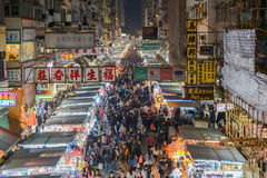 Улица Fa Yuen, Гонконг Стоковое Фото
