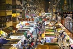 Улица Fa Yuen, Гонконг Стоковое фото RF