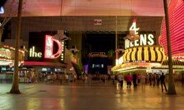 Улица Fremont - Лас-Вегас, Невада Стоковые Фотографии RF