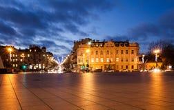 Улица Gedimino от квадрата собора Стоковое Изображение RF