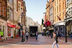 Улица Grafton, Дублин Стоковые Фото