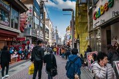 Улица Harajuku - Takeshita, токио, Япония Стоковая Фотография RF
