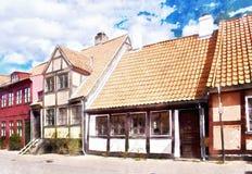 Улица Helsingor стоковое изображение rf
