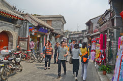 Улица hutong Пекина стоковое фото rf