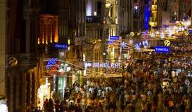 Улица Istiklal, Стамбул Стоковое Фото