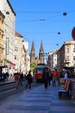 Улица Jugoslavska, Прага, чехословакская Стоковое Изображение