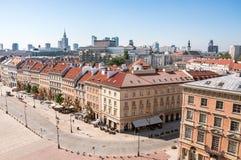 Улица Krakowskie Przedmiescie в Варшаве Стоковые Фото