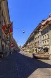 Улица Kramgasse, старый город Bern Стоковые Изображения RF